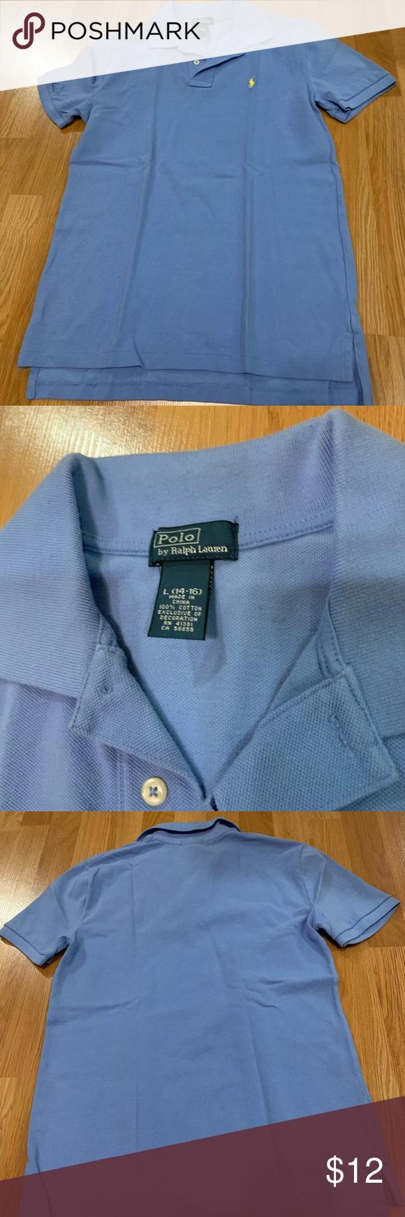 Light Blue Polo Shirt With Yellow Polo Logo Blue Polo Shirts Polo Logo Polo Shirt
