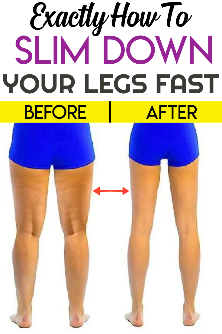 Exactly How To Slim Down Your Legs Fast  How to slim down, Easy