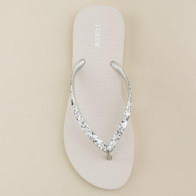 Sparkle flip-flops