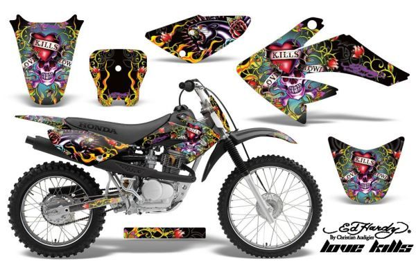 AMR Racing Love Kills Custom Dirt Bike Graphics Kit - 2004