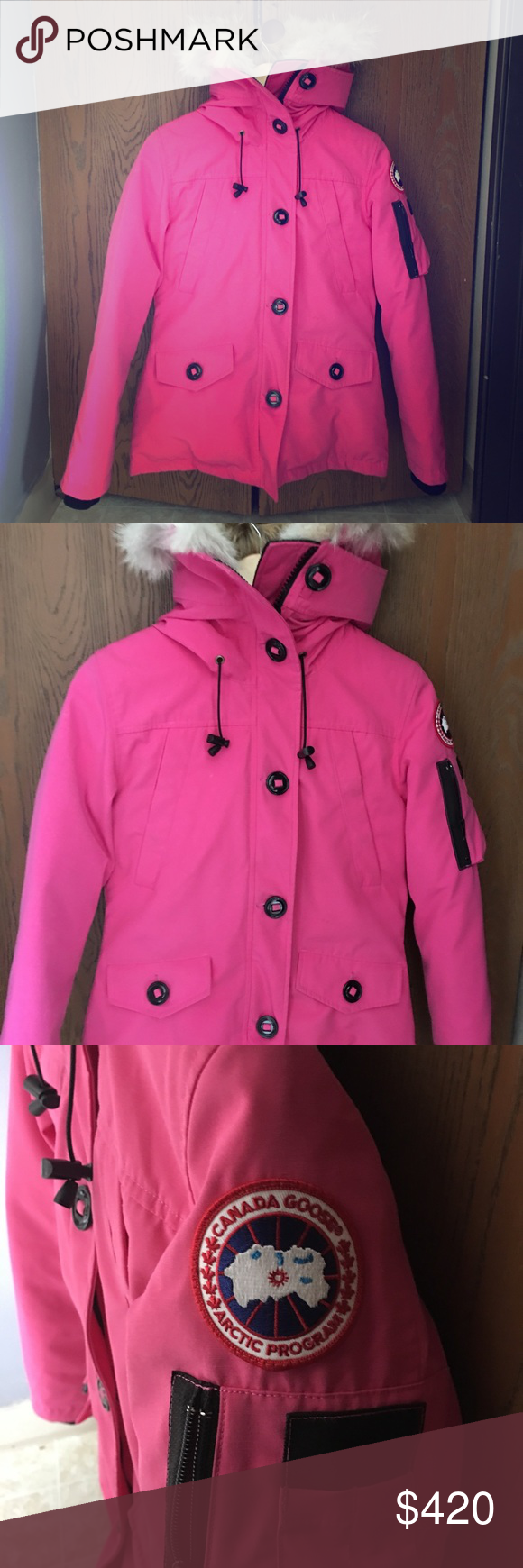 1e2df4325 Hot Pink Canada Goose Coat - fortyninegroup