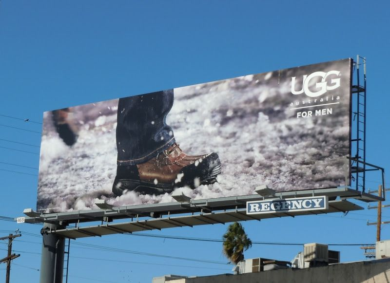 Daily Billboard Trio Day Ugg For Men Shoes Billboards Advertising For Movies Tv Fashion