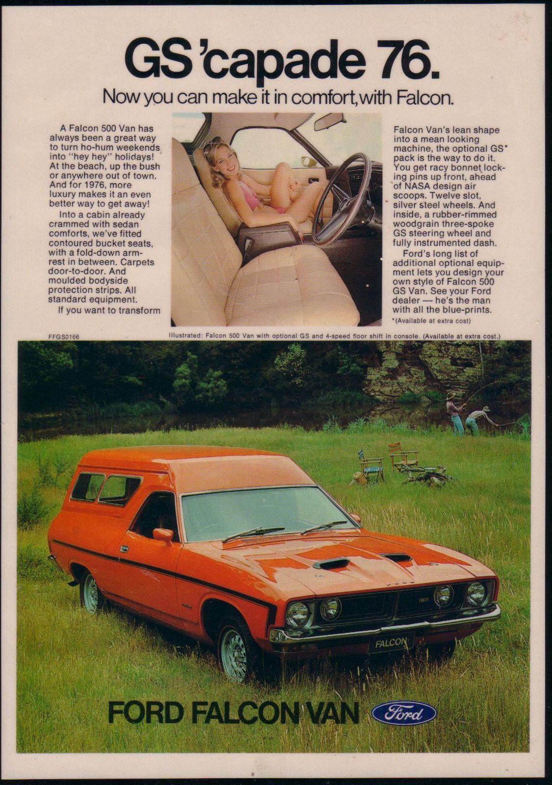 Ford XB Falcon GS Panel Van Ad (Australia) | XB Falcon | Pinterest ...