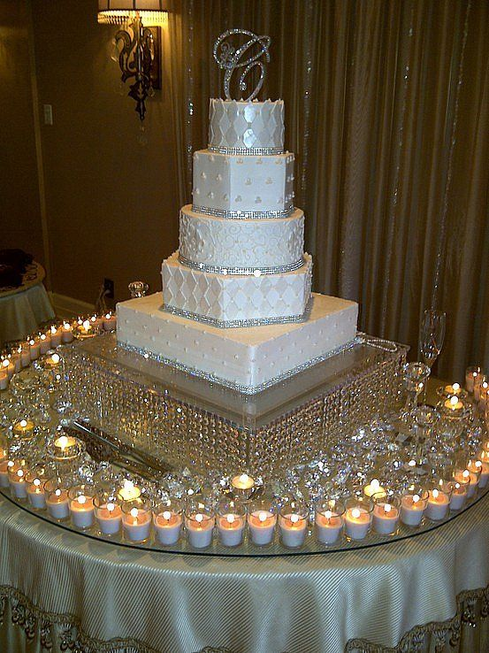 Elegant Wedding Cake Table Decorations