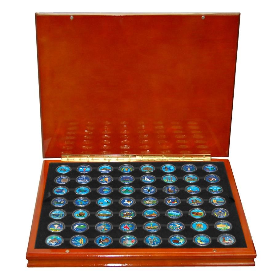 Colorized State Quarters Complete Set Of Collectible And - Rare us state quarters