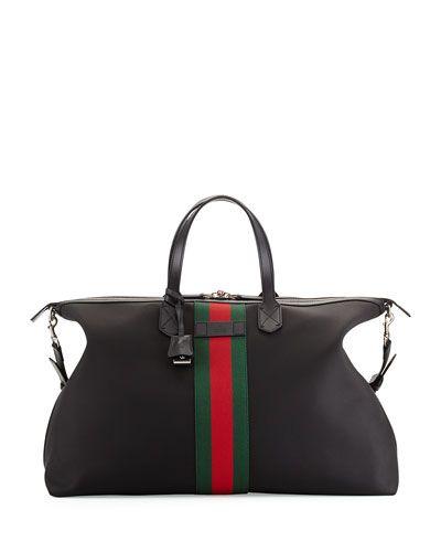 0b39155c38d N2TYU Gucci Techno Canvas Duffle Bag
