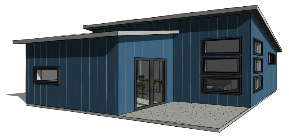 Steel Single Slope B Steel Kit 16 000 Steel House Metal Homes Metal Buildings