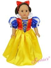 "Snow white costume that fits 18"" american girl dolls. Use special discount code PIN10"