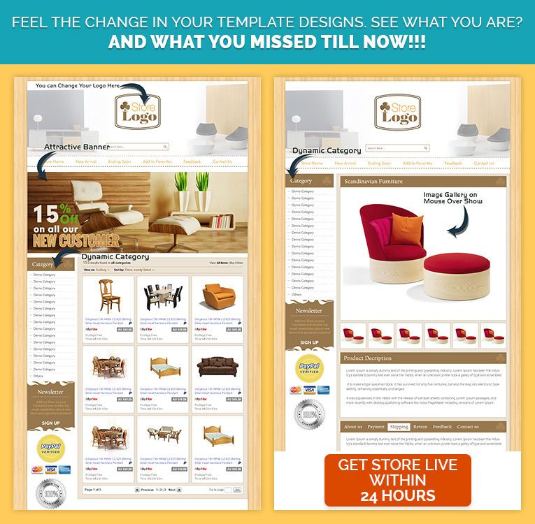 Shop store template listing mobile responsive templates html for buy furniture theme ebayshop listing template to sell interiordecoration or furniture products pronofoot35fo Image collections