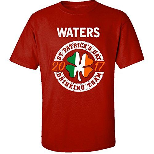Waters St Patricks Day 2017 Drinking Team Irish  Adult Shirt 4xl Red -- Click the St Patty's Day item to visit the Amazon website
