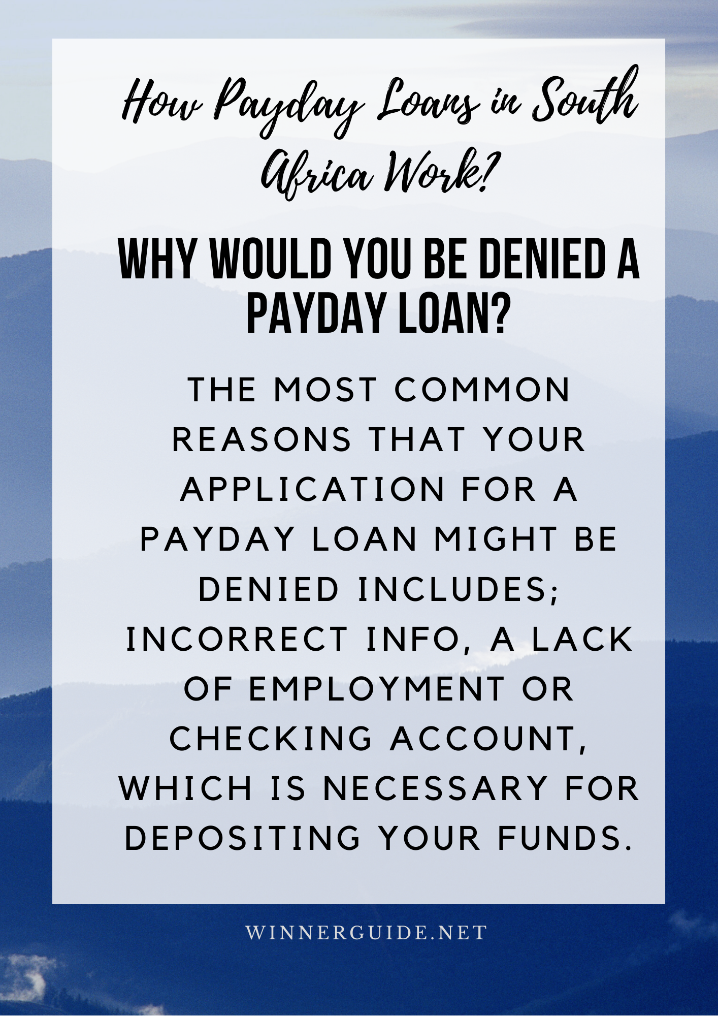 Why Would You Be Denied A Payday Loan Payday Loans Payday How To Get Money