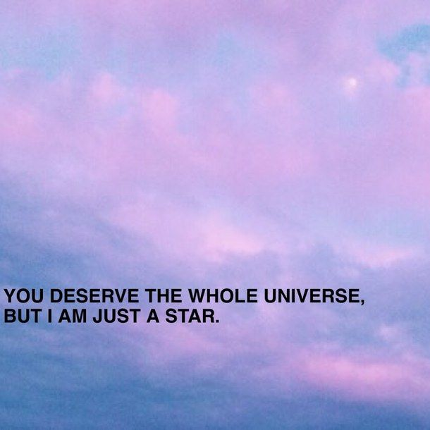 Aesthetic Love Love Quote Moon Pink Purple Quote Sky Star