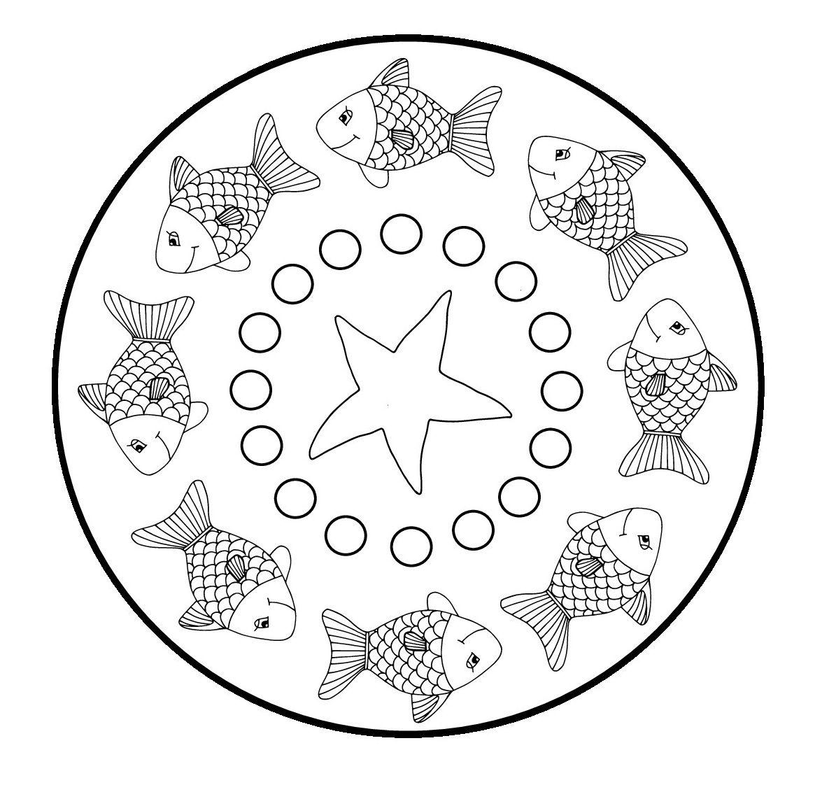 Mandala Vissen Vissen Mandala Kleurplaten