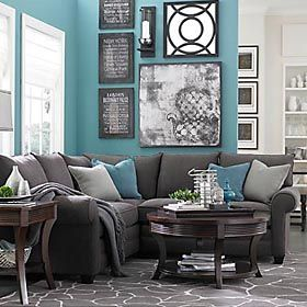 I Love Grey With An Accent Color This Is A Nice Idea As