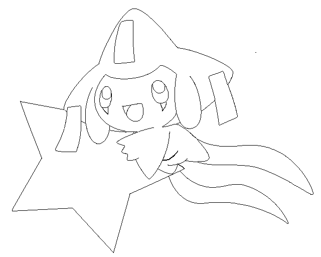 Jirachi Coloring Books Coloring Pages Pokemon