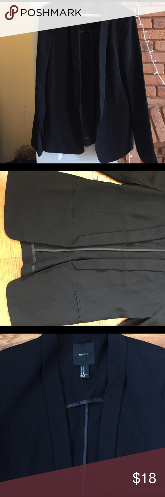Black blazer Nice girly lose fit. Very flattering . Worn once, great condition. Forever 21 Jackets & Coats Blazers