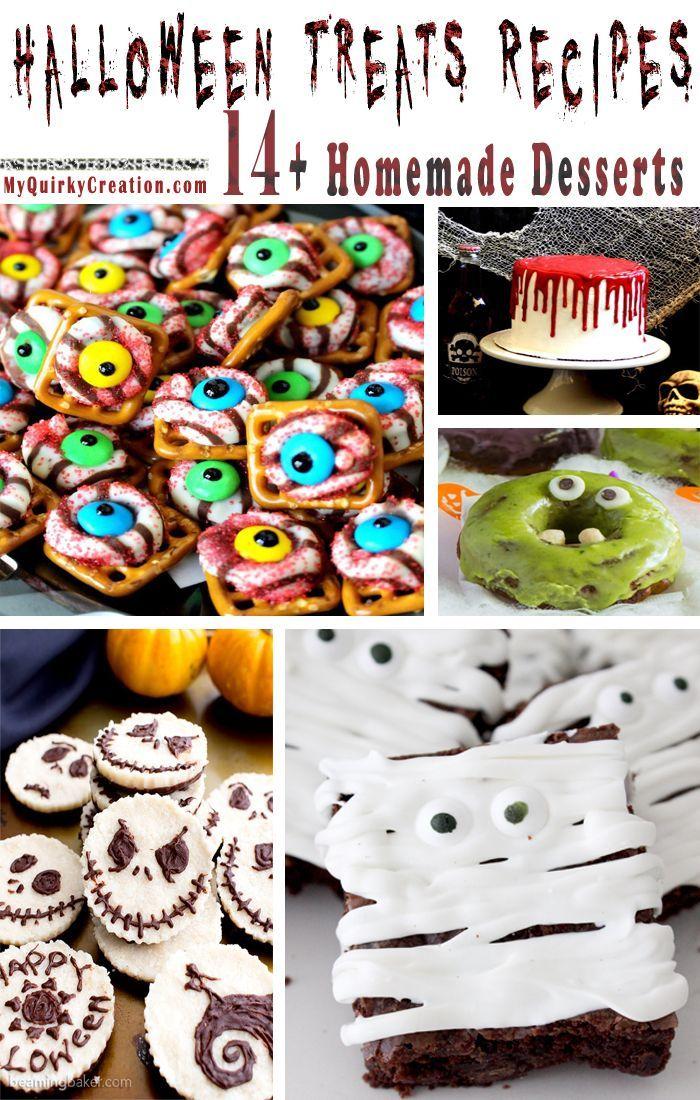 14+ Homemade Halloween Treats Recipes - Easy Halloween Desserts - halloween dessert ideas