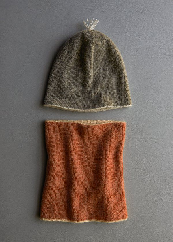 Reversible Hat + Reversible Cowl in New Colors | Purl Soho | knits ...