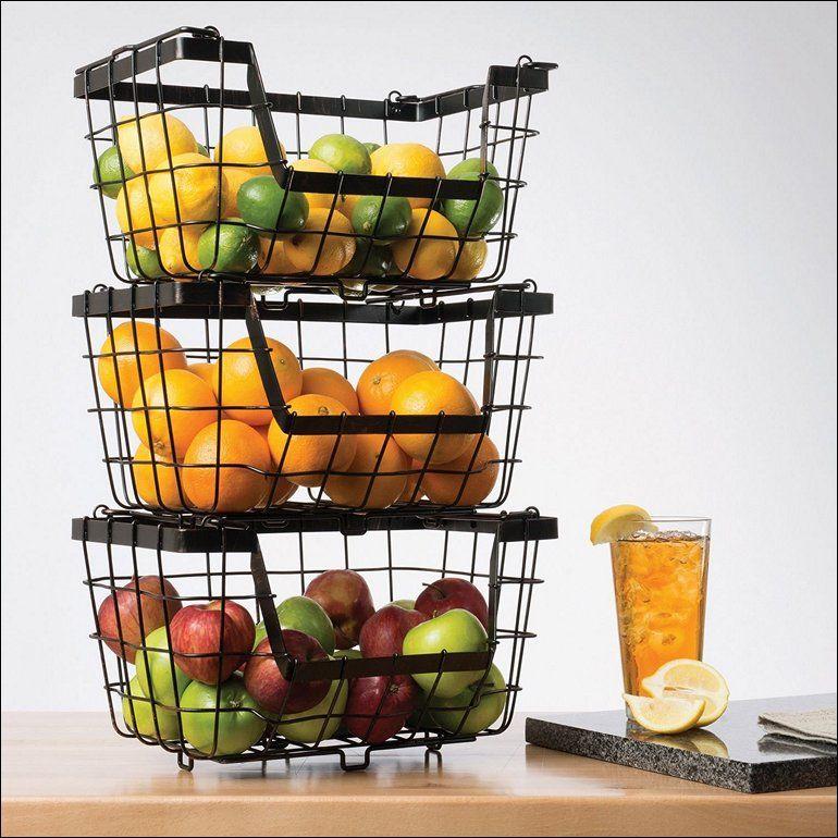 Kitchen Vegetable Holder Fruit Basket Holder Fruit Basket With