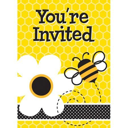 Party Occasions Bee Invitations Bumble Bee Invitations