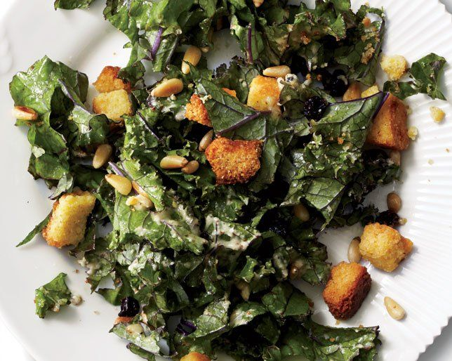 How to make corn bread healthy: Add it to a kale salad. You're guaranteed to love it.
