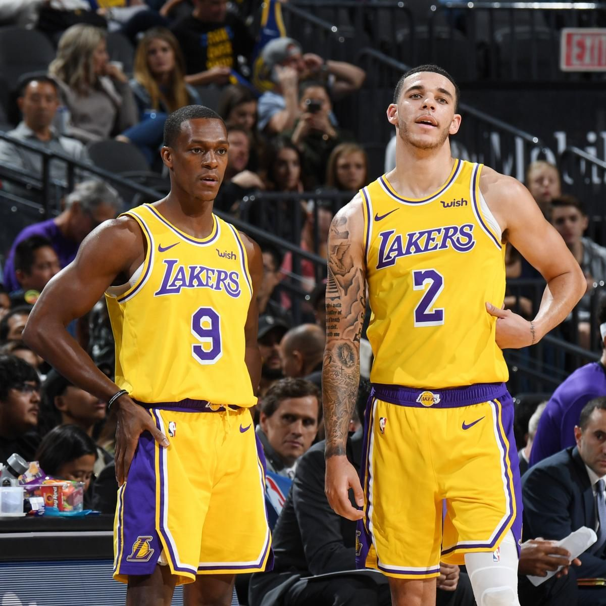 Lakers News Lonzo Ball Will Start After Rajon Rondo Returns From Suspension Los Angeles Lakers Lonzo Ball Lakers