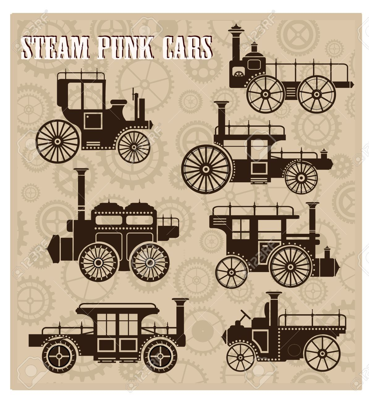 vintage steampunk labels vector free - Google Search