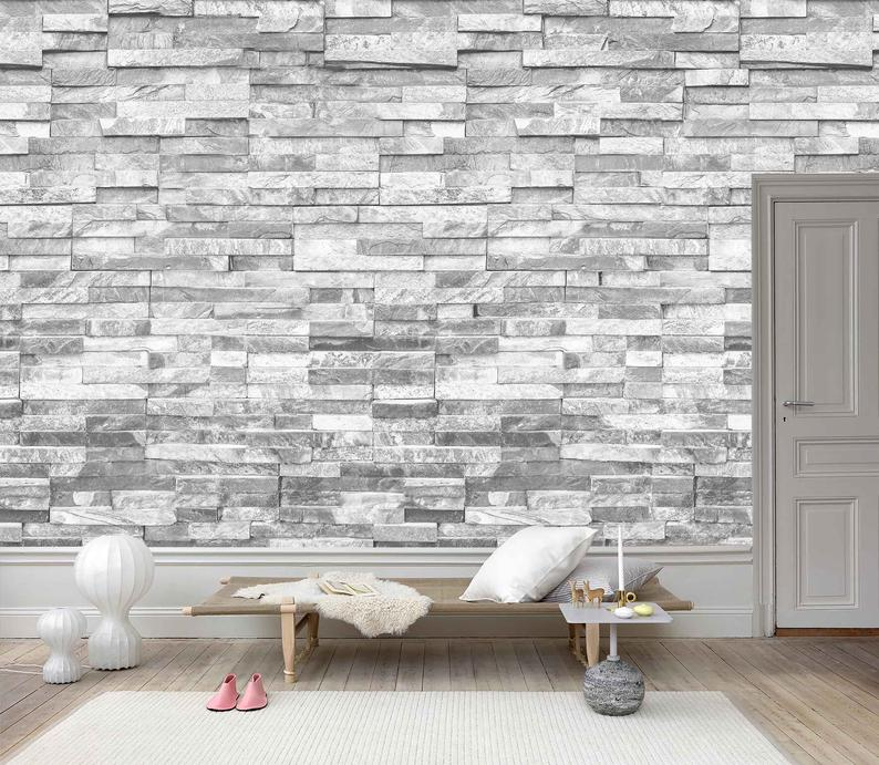 3D Stone material Wallpaper Removable Self Adhesive Etsy