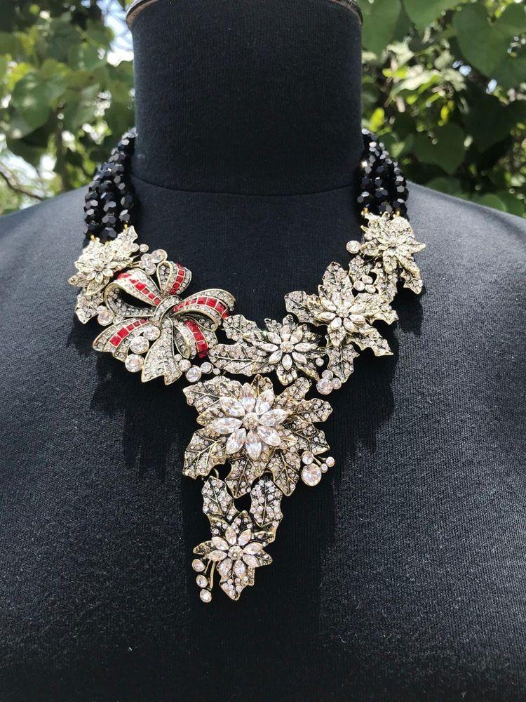 288f8bd38 eBay #Sponsored Heidi Daus Holiday Classic Black Beads Necklace SWAROVSKI  LAST 1 RET$549!