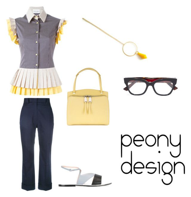 """""""Peony Design"""" by teri-peony ❤ liked on Polyvore featuring Daizy Shely, Jil Sander, Pollini and Gucci"""
