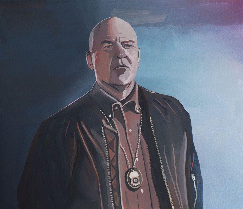 Breaking Bad Portrait Illustration Of Hank Schrader