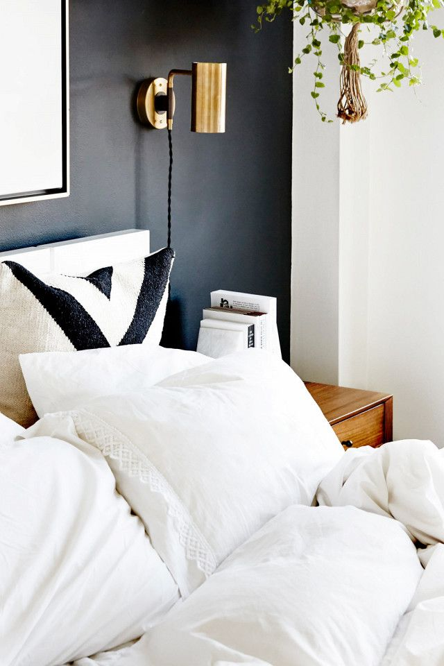 It S Official These 7 Paint Color Trends Are Out Black Walls Bedroom Accent Wall Bedroom Black Accent Walls