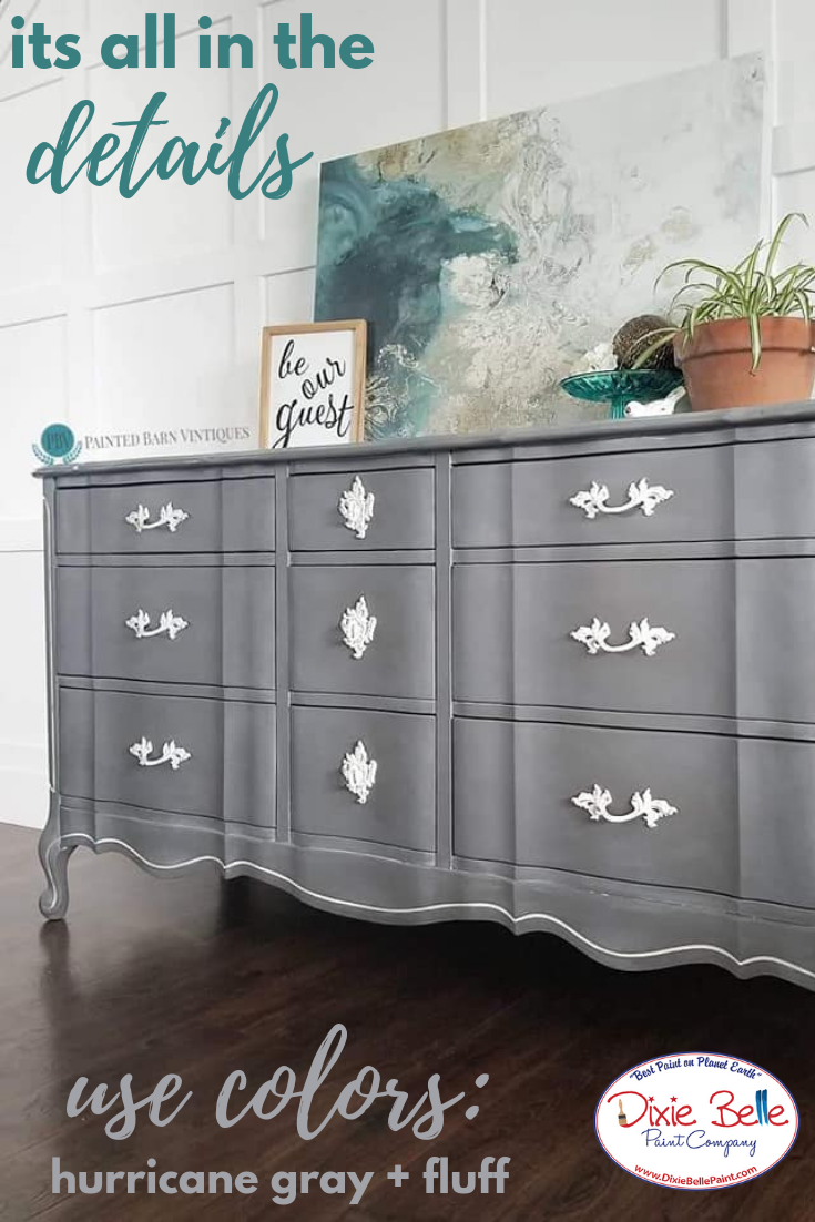This Piece Was Painted With Hurricane Gray And Fluff With Best Dang Wax In White Shop Dix Home Decor Styles Global Home Decor Style Painted Furniture For Sale