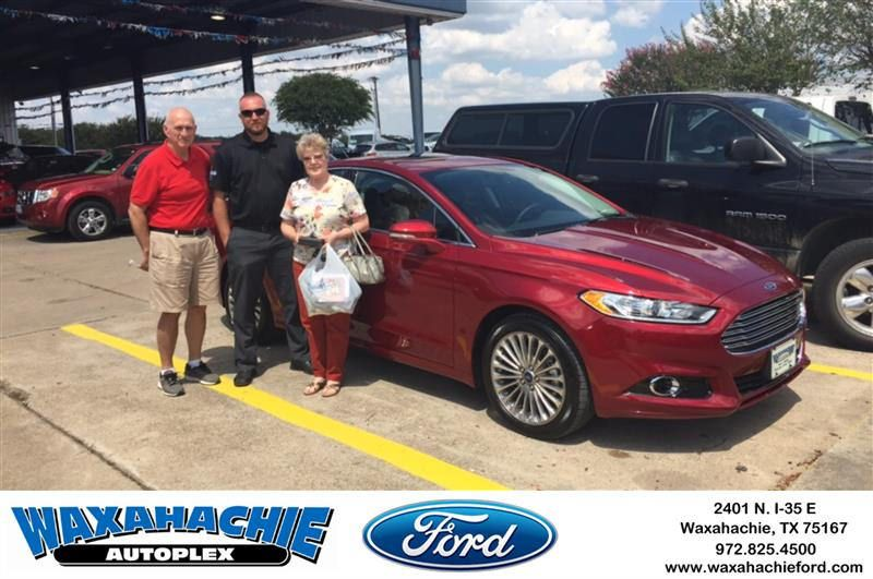 Congratulations Denny on your Ford Fusion from Shawn