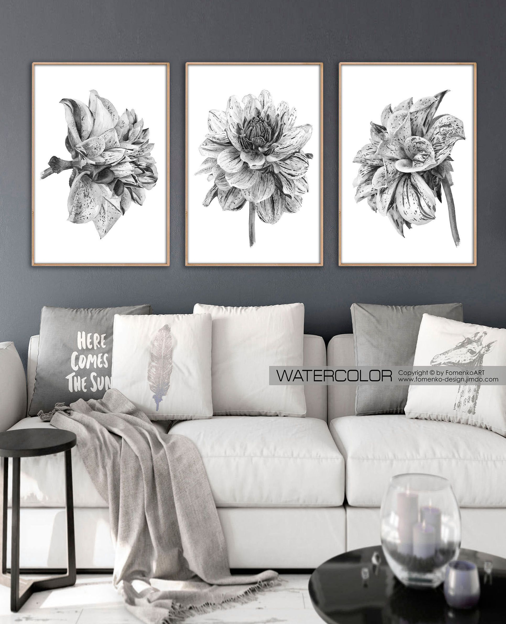 Black And White Artwork For Bedroom Bathroom Wall Decor Farmhouse Decor Boho Decor Black And White