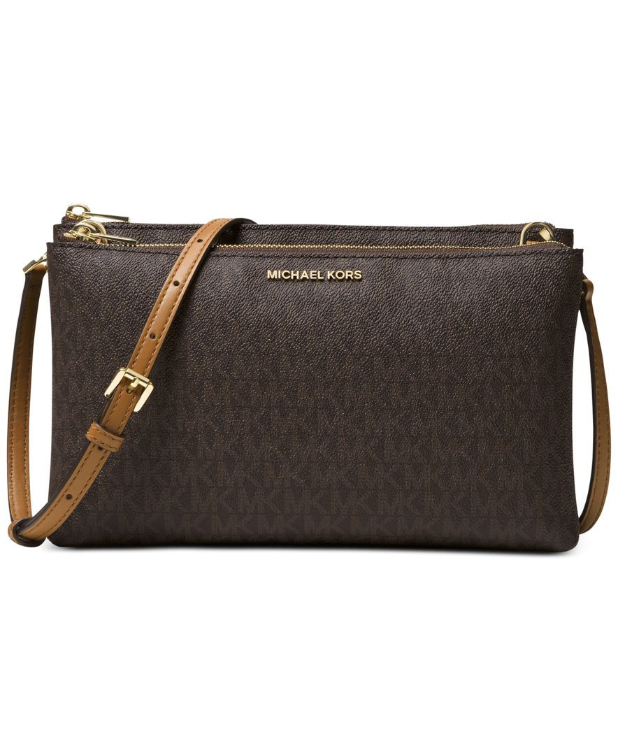 806e1ace5ff884 Michael Michael Kors Adele Double-Zip Crossbody | Products | Pinterest