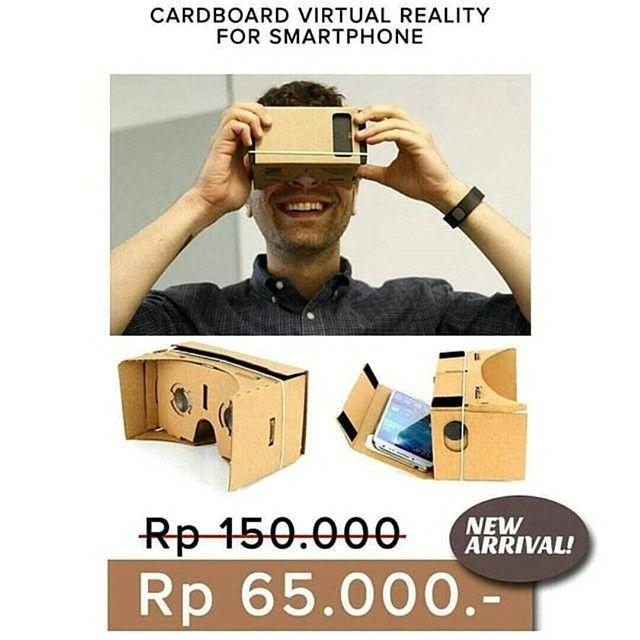 """NEW ARRIVAL !! Cardboard virtual reality for smartphone Dengan main-feature nya yaitu sebagai alat Virtual Reality Cardboard dapat merubah pandangan kita dan menipu otak kita seakan-akan kita berada diruangan atau tempat lain dengan penglihatan 3D.  Google Cardboard didukung oleh aplikasi yang dibuat oleh banyak orang dan terus bertambah. bisa di download appnya di play store search """"cardboard vr"""" Maksimal 5.5""""  Harga 65.000 Order klik link di bio yah or WA 08192077085  #cardboard #virtual…"""