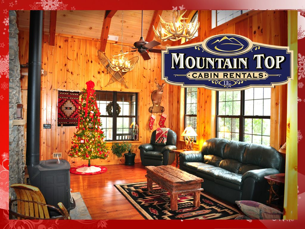 rustic christmas decor cabin rentals decorated for christmas