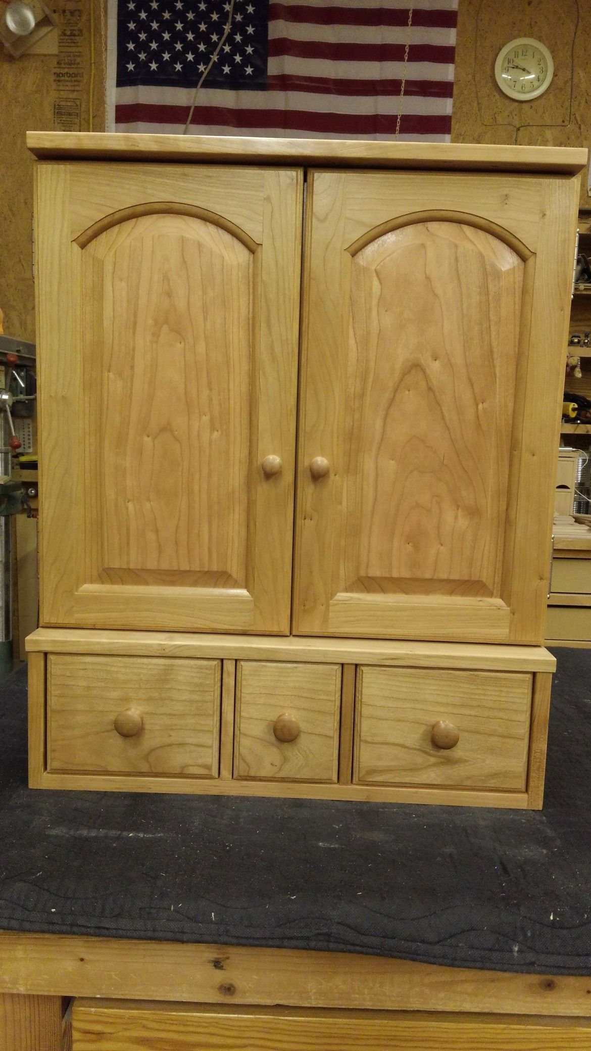 Custom Solid Cherry Wood Cabinet 30 Tall X 24 Wide X 14 Deep Intended For Loose Tea Storage In Pint Jars Cherry Wood Cabinets Tea Storage Adjustable Shelving Cherry wood storage cabinet