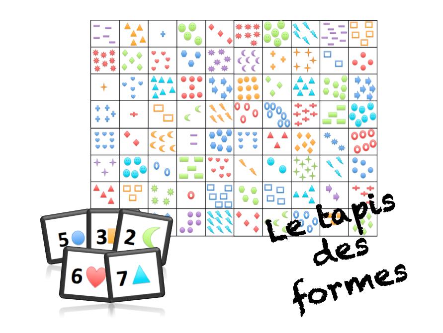 Le tapis des formes jeu r gles gs ms autours des - Tapis forme geometrique ...