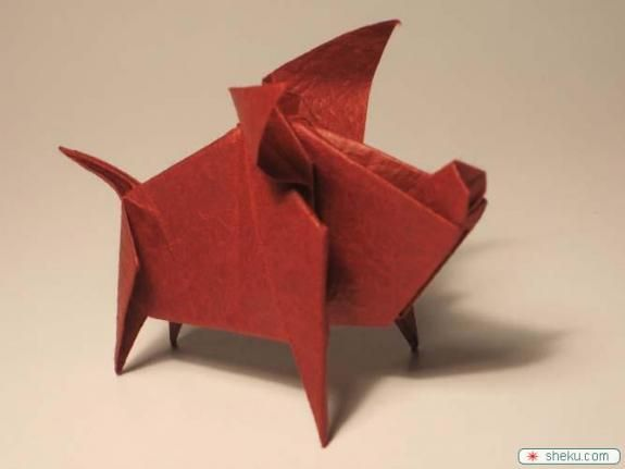 How To Origami Origami Pig Pig Origamiorigami Pig Instructions