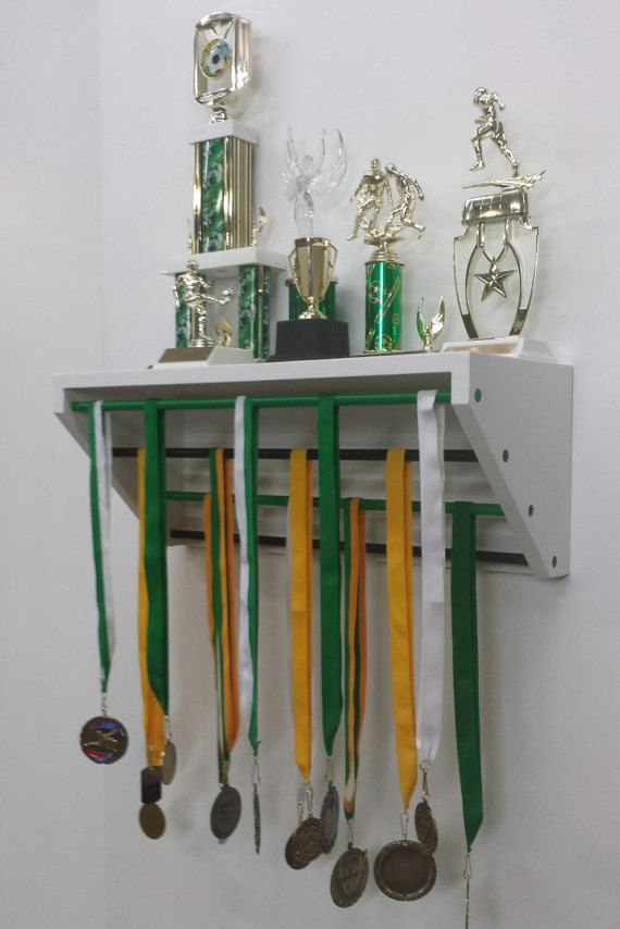 Lime Green Trendy Trophy Display For Trophies And Medals