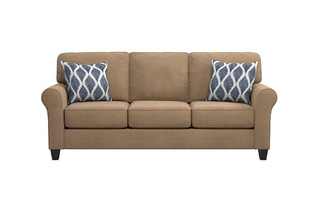 Best Mocha Aldy Sofa And Pillows View 1 With Images Sofa 400 x 300