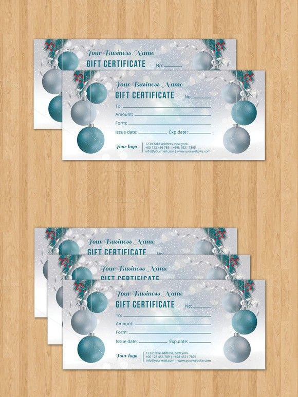 Christmas Gift Certificate V05 Card Design Templates 600