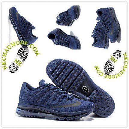 best service 064d9 37525 Tendance   Nike Chaussure Sport Air Max 2016 Homme Bleu Marine