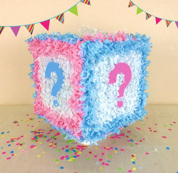 Gender Reveal Cube Hit Pinata Baby Shower Gender Reveal Pinata Baby Gender Reveal Party Gender Reveal Party Theme