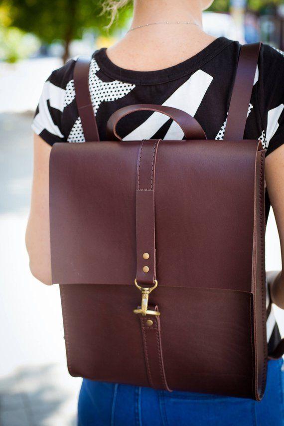 cbe6ed494f leather backpack women leather rucksack laptop backpack gift for her girl  backpack custom backpack l