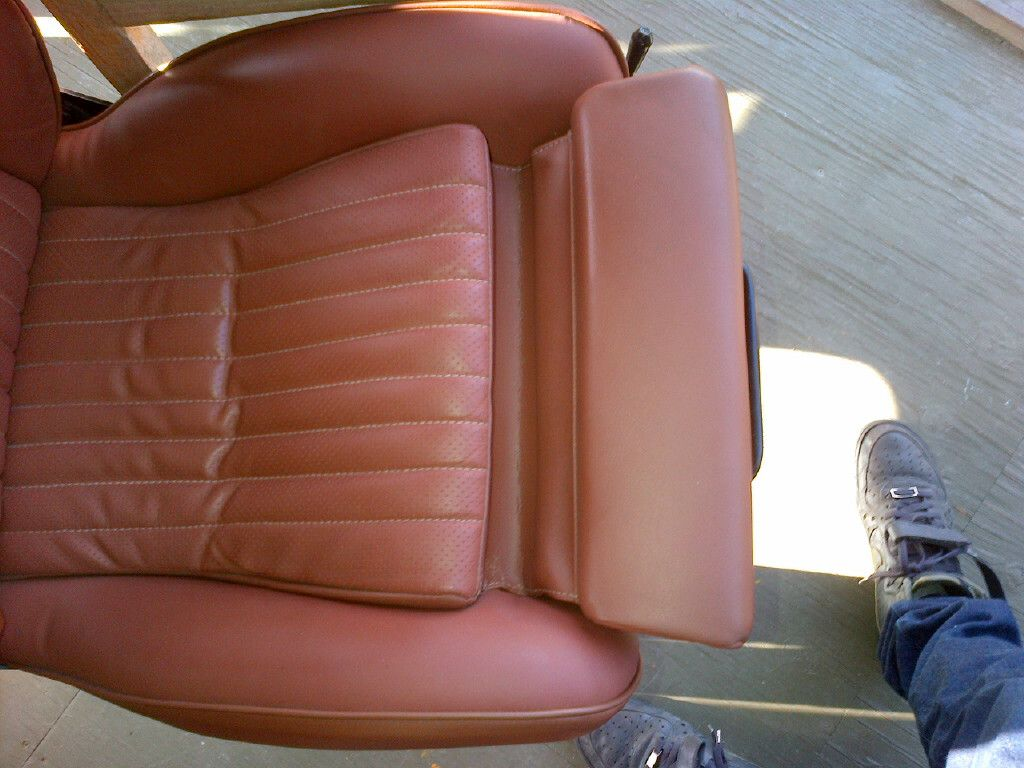 recaro seats from an e21 recovered in tobacco brown leather vw interiors and ideas pinterest. Black Bedroom Furniture Sets. Home Design Ideas