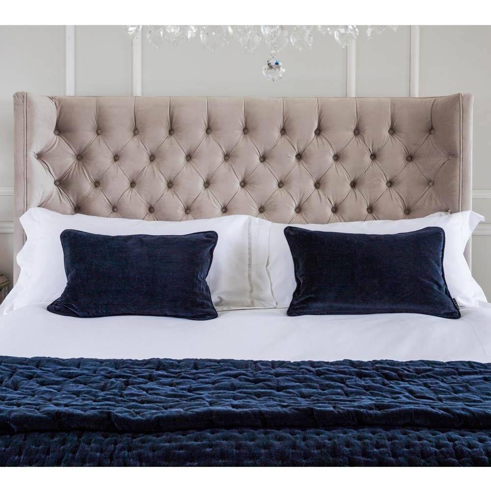 Perfect Plushious Velvet Bedspread In Navy Blue | Blue Velvet Throw