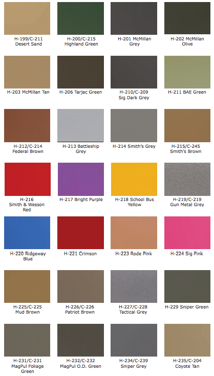Cerakote Color Chart Firearms Pinterest Firearms Chart And Guns